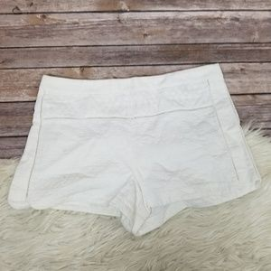 J. Crew Womens Mixed Matelasse White Short 6